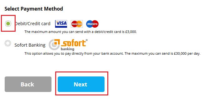 transfer bani worldremit alege metoda de plata