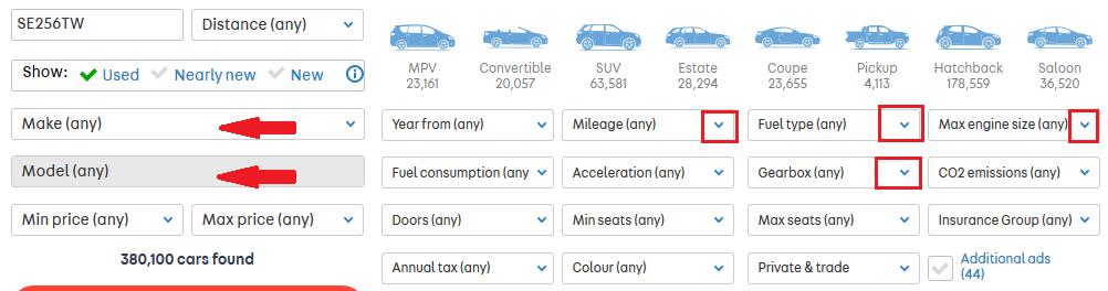 masini anglia autotrader selecteaza marca si alte optiuni